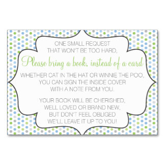 Bring a book instead of a card table card