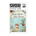 Bring a Book Mad Hatter & Cheshire Cat Baby Shower Postage Stamp