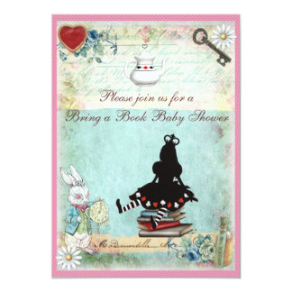 "Bring a Book Princess Alice Baby Shower 5"" X 7"" Invitation Card"