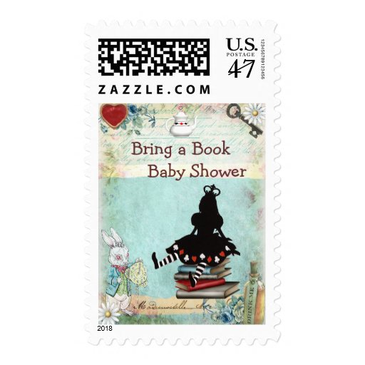 bring a book princess alice baby shower stamp zazzle