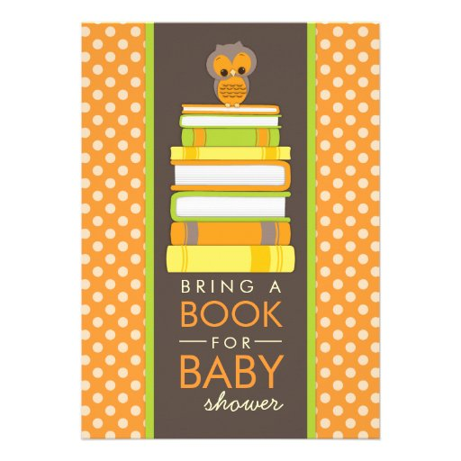bring a book sweet owl baby shower invitation zazzle