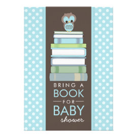 Bring A Book Sweet Owl Baby Shower Invitation