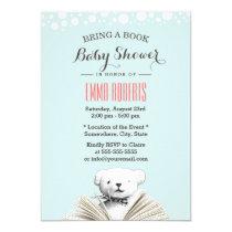 Bring a Book Teddy Bear Baby Shower Invitations