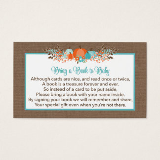 Bring a Book to Baby Request- Fall Pumpkins Business Card