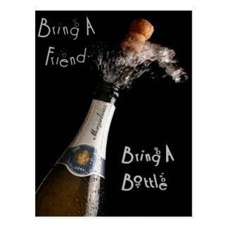 Bring A Friend, Bring A Bottle Postcard