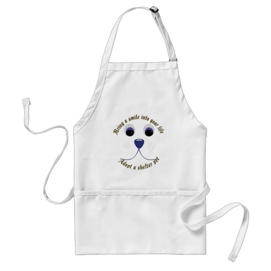 Bring a Smile Adopt a Pet Adult Apron