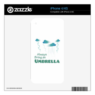 Bring An Umbrella Skin For The iPhone 4S