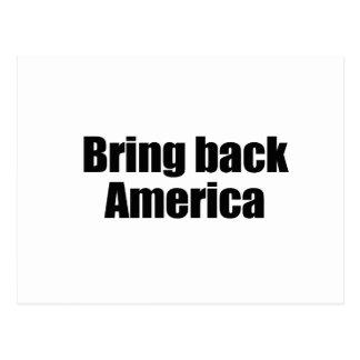 BRING BACK AMERICA png Postcard
