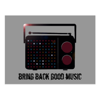bring back good music postcard