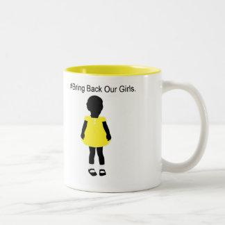 #Bring Back Our Girls. Two-Tone Coffee Mug