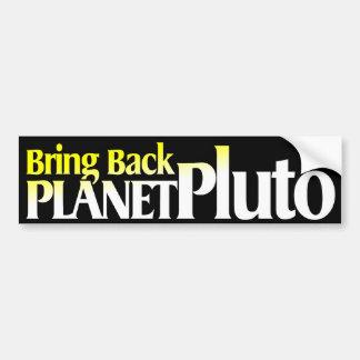 Bring Back Planet Pluto Bumper Sticker