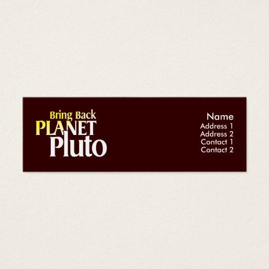 Bring Back Planet Pluto Profile Card