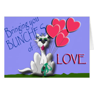 Bring bunches of love with the Caterwaul cat. Card