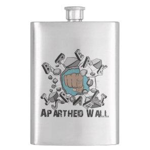 Bring Down Israeli Apartheid Wall Westbank Barrier Hip Flask