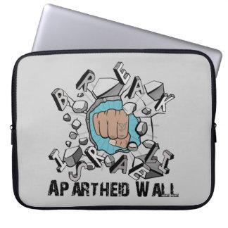 Bring Down Israeli Apartheid Wall Westbank Barrier Laptop Sleeve