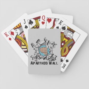 Bring Down Israeli Apartheid Wall Westbank Barrier Playing Cards