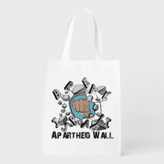 Bring Down Israeli Apartheid Wall Westbank Barrier Grocery Bag