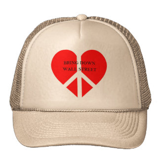 Bring Down Wall Street Mesh Hats