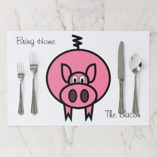 Bring Home The Bacon Paper Placemat