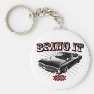 Bring it! basic round button keychain