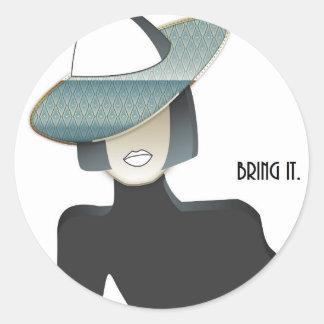 Bring it. classic round sticker