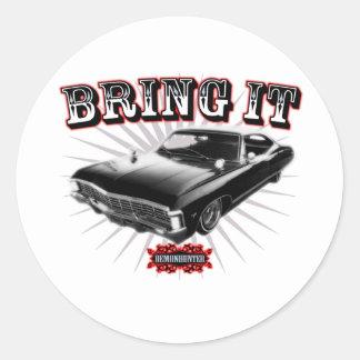 Bring it! classic round sticker