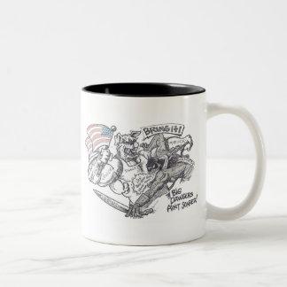"""Bring It"" Design by Richard Gibbs Two-Tone Coffee Mug"