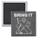 Bring It Hockey Goalie 2 Inch Square Magnet