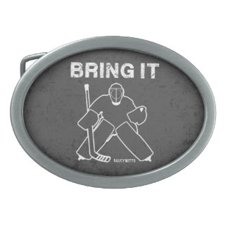 Bring It Hockey Goalie Belt Buckle