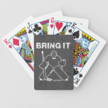 Bring It Hockey Goalie Bicycle Playing Cards