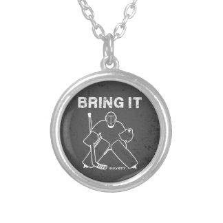Bring It Hockey Goalie Necklace