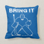 Bring It Hockey Goalie Reversible Throw Pillow