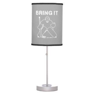 Bring It Hockey Goalie Table Lamp