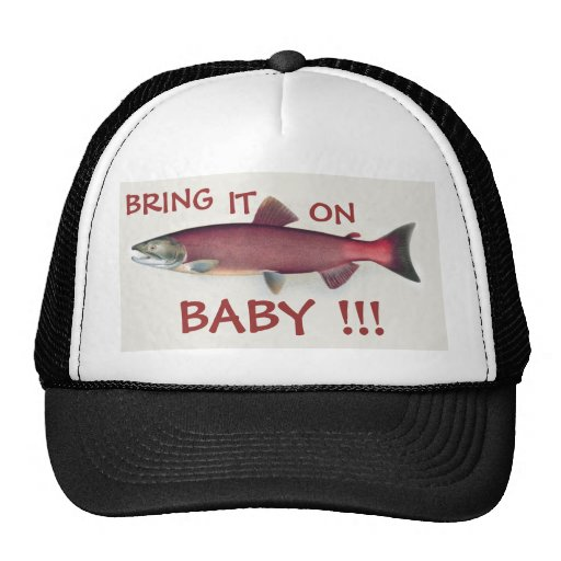 Bring it on baby salmon fishing hat zazzle for Toddler fishing hat