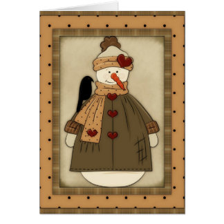Bring it On Snowgirl (Winter) 2 Greeting Card