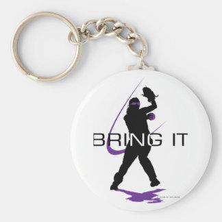 Bring it - Pitcher Basic Round Button Keychain
