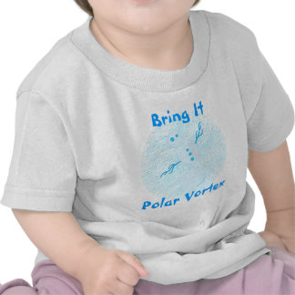 Bring It Polar Vortex! Funny Snowman Art Shirt