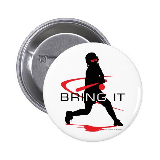 Bring it Red Batter Softball Button