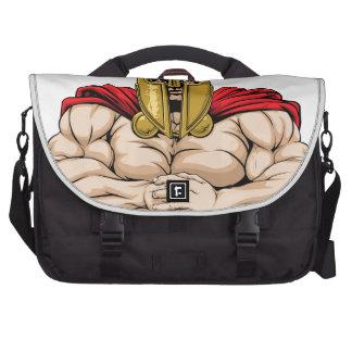 Bring it spartan mascot laptop commuter bag