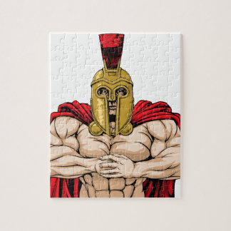 Bring it spartan mascot jigsaw puzzles