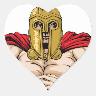 Bring it spartan mascot heart sticker