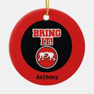 Bring IT! Wrestling Christmas Ornament