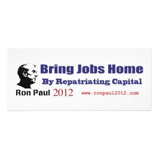 Bring Jobs Home by Repatriating Capital Ron Paul Announcement