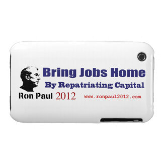 Bring Jobs Home by Repatriating Capital Ron Paul iPhone 3 Cover