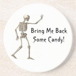 Bring Me Back Candy Skeleton Halloween Coaster