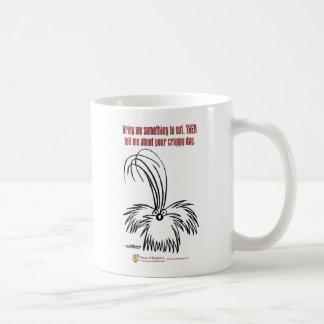 Bring me something to eat. coffee mug
