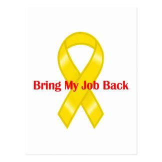 Bring My Job Back Yellow Ribbon Postcard