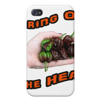 Bring On Heat Chocolate Hot Habanero Pepper iPhone 4 Cases