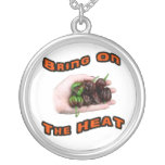 Bring On Heat Chocolate Hot Habanero Pepper Personalized Necklace