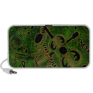 Bring on the Band Green Background Portable Speakers